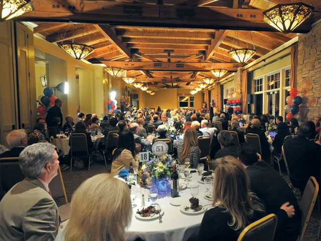 Dinner guests wait for the Top 51 Most Influential People at Robinson Ranch Golf Ranch in Santa Clarita on Thursday.