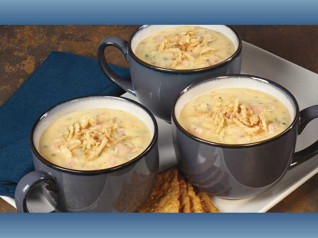 Beer brat cheddar potato chowder
