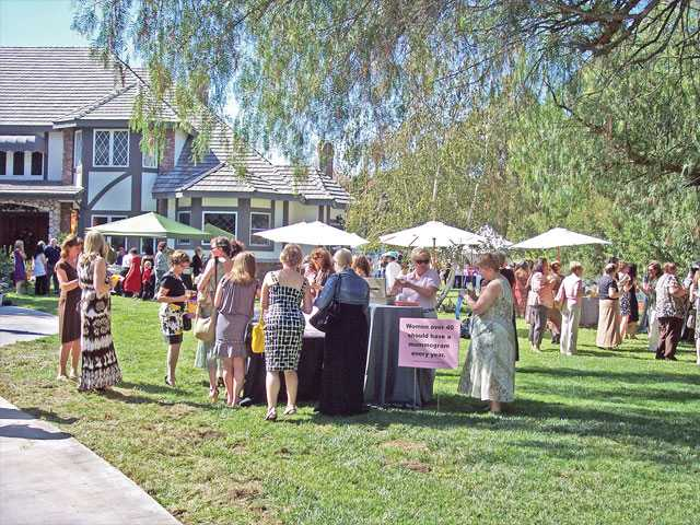 Guests gather for the annual Circle of Hope tea at a new location in Sand Canyon. The event is a fundraiser for the breast cancer nonprofit.