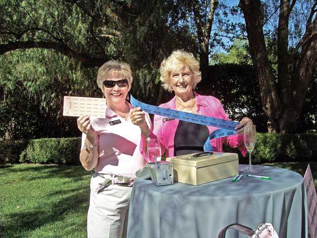 Left to right, Cheryl Gray and Judy Penmen sold raffle tickets to benefit Circle of Hope.