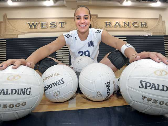 West Ranch High School sophomore outside hitter Alexis Clewis is third on the team this season with 184 kills, and her .471 hitting percentage is the highest among the Wildcats' outside starting hitters this season.