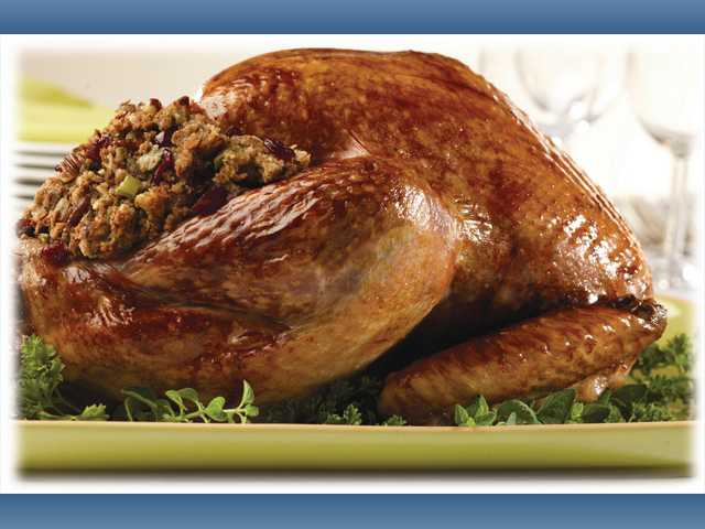 Herb roasted turkey with pan gravy