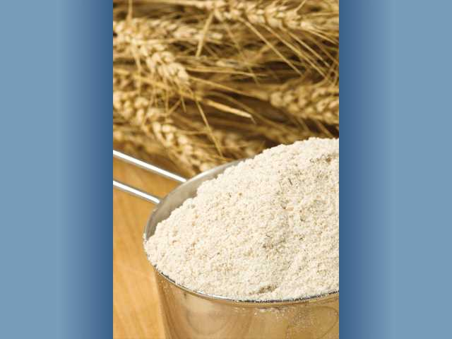 Whole wheat flour is a much better choice than white flour, which is devoid of nutritional benefits. Additionally, whole wheat products, such as breads and pasta, provide fiber. It is recommend to eat between 25-30 grams of fiber per day.