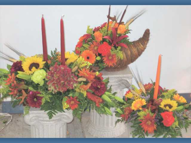 Thanksgiving centerpieces from Steve's Valencia Florist ranging from $40-$75.