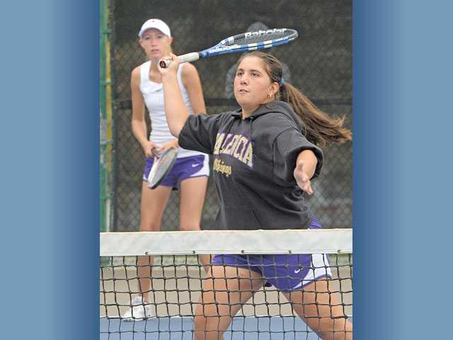 CIF tennis: Valencia goes double time