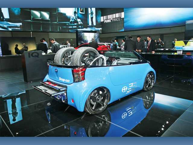 "The Scion ""Snap-on Tools"" car is one of the whimsical custom cars that can be found at the L.A. Auto Show opening today and running through Sunday, Nov. 27."