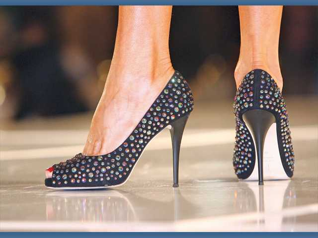 Jeweled shoes worn by event chairwoman Shelley Hann.