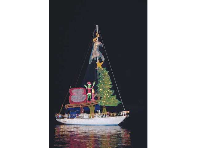 An entry from last year's Ventura Harbor Parade of lights, which had a Whoville theme.