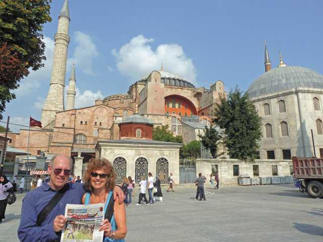 Jeff and Joan Jacobson took The Signal to the Hagia Sophia in Istanbul, Turkey, in September 2011.