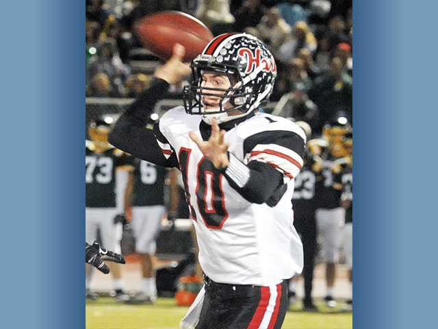 Hart junior-to-be Connor Wingenroth is the top returning quarterback in the Foothill League.