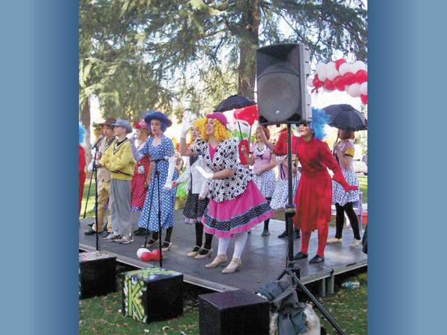 "The Placerita Drama Club performed a preview of ""Seussical, Jr."" at the Santa Clarita Valley Education Foundation's annual Arts and Literary Fair on Dec. 3 at Newhall Park."