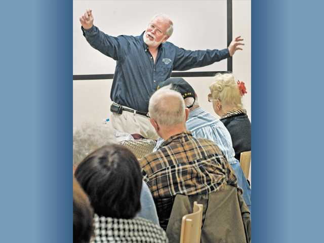 Dr. Michael Holt leads a class for seniors titled The Power of Positive Thinking at the Santa Clarita Valley Senior Center in December.
