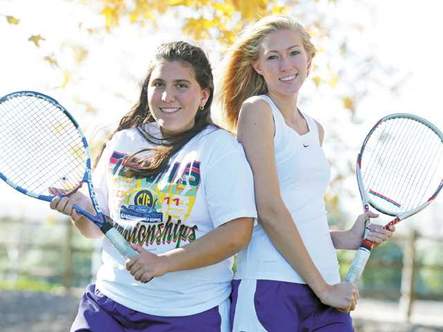 Valencia seniors Shenelle Trujillo and Michelle Savage are the 2011 All-Santa Clarita Valley Girls Tennis Doubles Team of the Year.