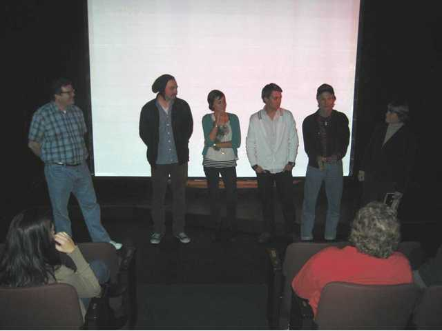 "One of the Q & A sessions at last year's festival, with the cast and crew from the College Short ""Step 8."""