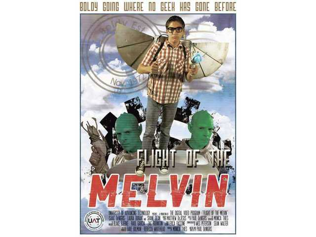 "The poster for ""Flight of the Melvin."""