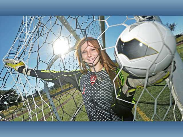 Ashleigh Tippet, a Hart senior who also plays varsity volleyball, is on track to join the ranks of the school's impressive history of goalkeepers, including Tippet's older sister Brittany.