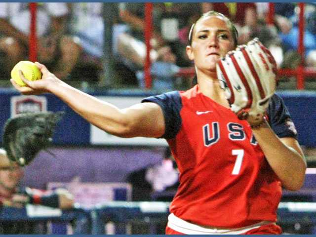 Valencia High School graduate Jordan Taylor made the USA Softball Women's National Team for the second straight year, but she won't be able to experience Olympic competition next summer in London because the sport was removed after the 2008 games. Taylor recently graduated from the University of Michigan.