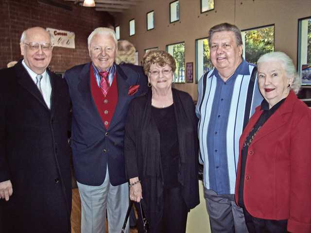 Left to right, Gary Condie, president of the Boys & Girls Club Foundation Board, W. Harold Petersen, Marian and Richard Sandnes and Jacqulyn Petersen.