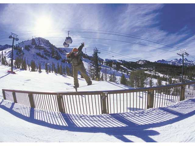 Better days at Mammoth Mountain last year. Even Mammoth is desperately in need of snow this year.