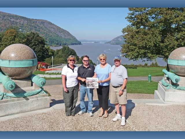 Cindy Molacek, Tom Malecek, Jeanne Spencer and Jack Spencer took The Signal to Trophy Point at the U.S. Military Academy at West Point, N.Y., in October.
