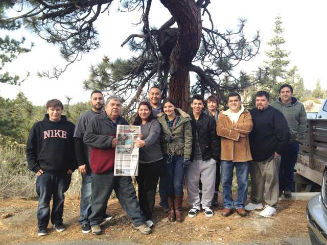 The Ramos family took The Signal to Lake Tahoe on Jan. 6.