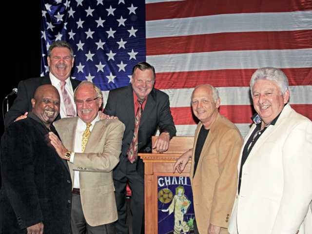 Left to right, Morris Thomas, John Heys, Don Fleming, Bob Kellar, Duane Harte and Steve Sturgeon.
