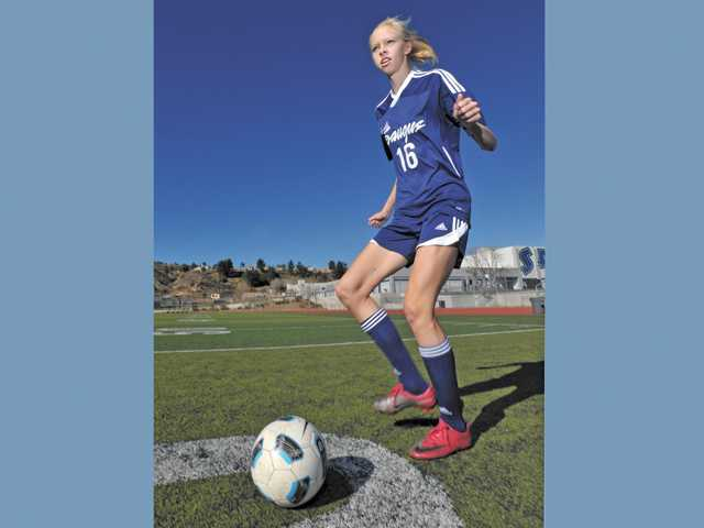 Saugus senior defender Serena Smith-Banas is committed to play college soccer for Texas Christian University this fall.