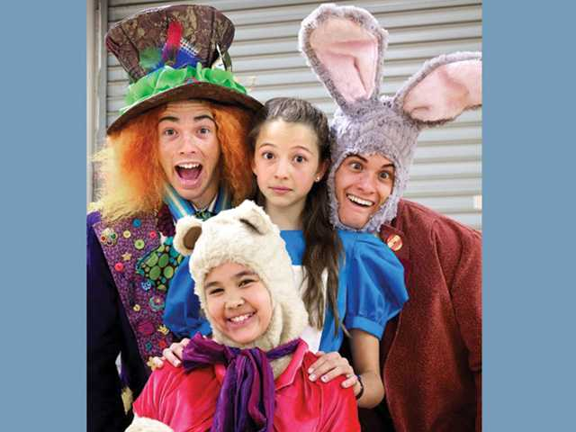 "A few of the more than 250 cast members of ESCAPE Children's Theatre's ""Alice in Wonderland,"" which will play Feb. 3-5 at the Santa Clarita Performing Arts Center."
