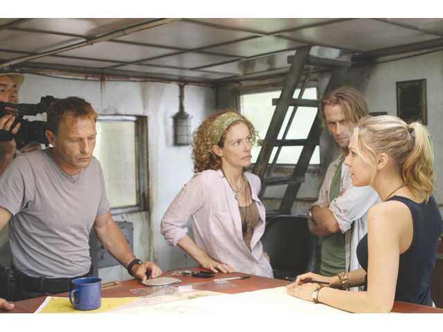 "Left to right, Thomas Kretschmann, Leslie Hope, Joe Anderson and Eloise Mumford in ""The River."""