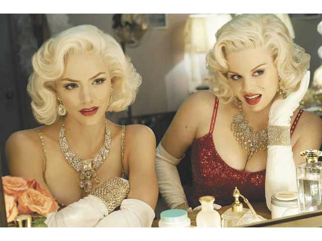 "Left to right, Katharine McPhee as Karen Cartwright and Megan Hilty as Ivy Lynn in ""SMASH."""