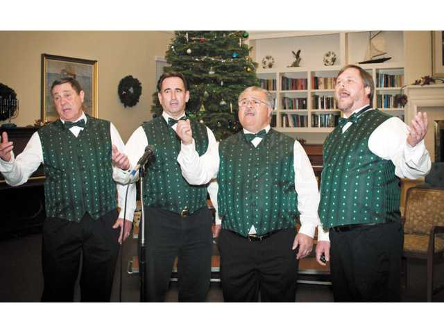 The Men of Harmony perform during various holidays, but Valentine's Day is a specialty.
