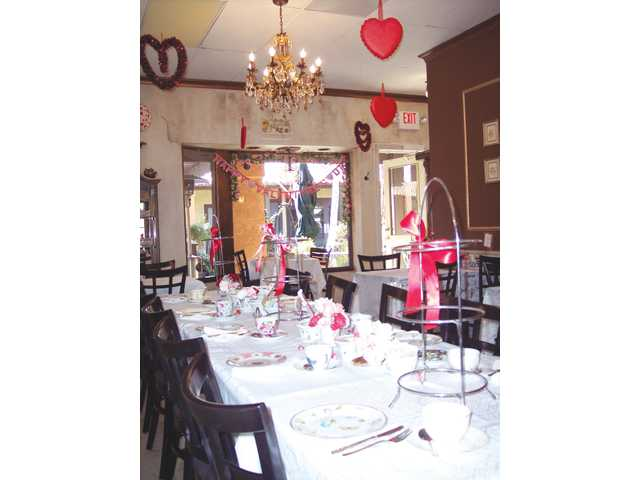 The Tea Gardens in Saugus will be offering special Valentine-themed tea celebrations through Feb. 14.
