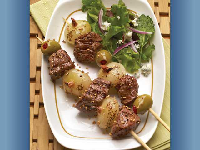 Dirty Martini Steak Kabobs