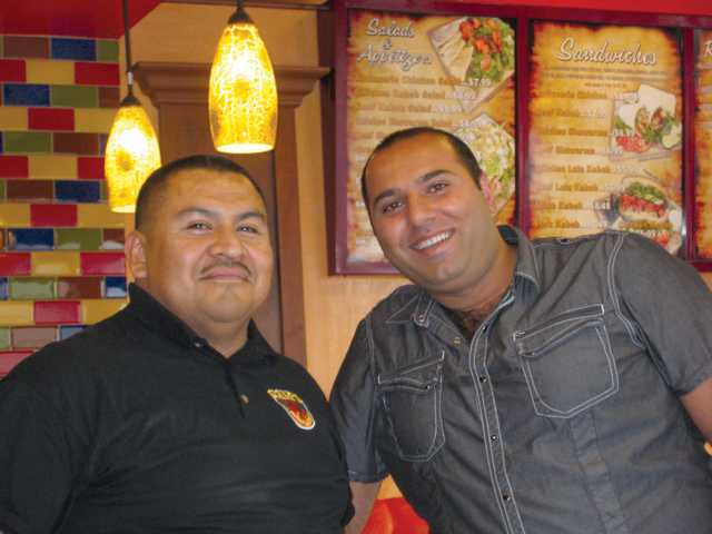 Newhall Manager Max Dominguez, left, and owner Sam Panosyan.