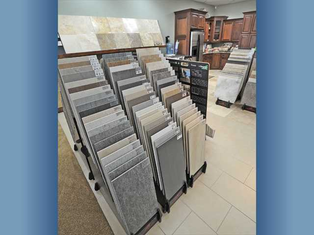 The tile section of Marty's Flooring America showroom. Tile offers many options and is the most durable flooring material.
