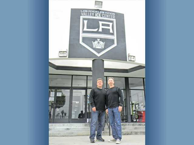 From left, Los Angeles Kings Valley Ice Center owners Dave Serianne and Scott Floman.