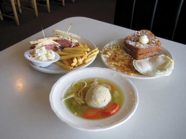 "Matzo Ball Soup, Fred's New York Pastrami Sandwich and Flaky French Toast. Regular customers consider Cathy's soups as ""medicine"" against colds when the weather turns bad."