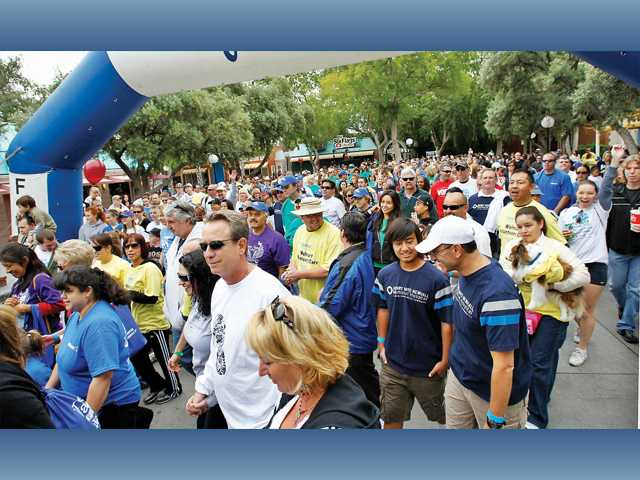 Nearly 2,500 participants start the 2011 Arthritis Walk held at Six Flags Magic Mountain.