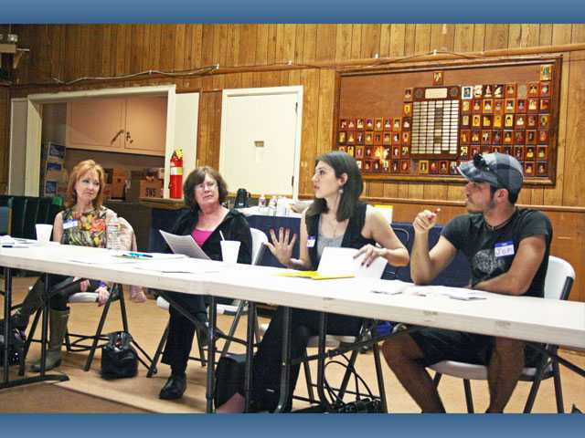 Jena Minassian, center, leads a discussion during the lupus, arthritis and fibromyalgia support group on Feb. 26 at the American Legion in Newhall. Minassian has run the local support group since June 2011, when she learned there was no support group for chronic diseases in the Santa Clarita Valley.
