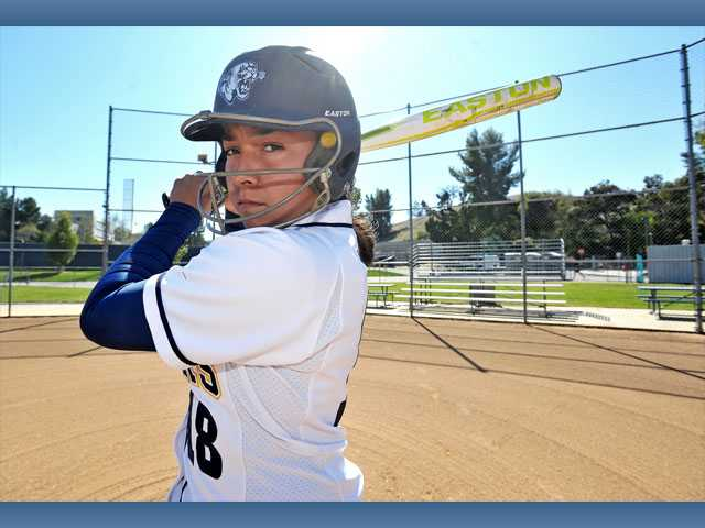 College of the Canyons softball player Ruby Herrera chose not to play last season after her brother nearly lost his life after being stabbed at a party. This season, the sophomore has returned to the team and leads the Cougars in hits, walks and batting average.