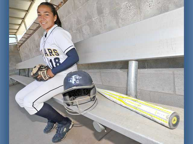 Ruby Herrera has returned to the College of the Canyons softball team this season and the co-captain is looking to help the Cougars return to the playoffs. She sat our last year for personal reasons.
