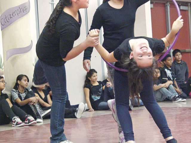 Mint Canyon Community School's fifth-graders recently celebrated the culmination of their dance program by performing for parents and peers.