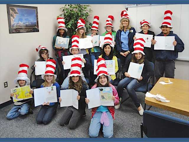 Mitchell Community School in Canyon County celebrated Dr. Seuss' birthday and Read Across America Day on Friday. As part of the Young Authors program, students checked their own books out of our library and rotated through classes to read their books to the students on campus. The school library has been highlighting a young author with a display and their name on the school marquee. The student young authors have become celebrities on campus and were able to inspire their fellow peers to become writers.