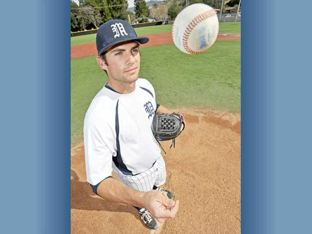 The Master's College senior Charlie Gillies has always had potential, and now the former West Ranch and College of the Canyons pitcher is putting it together on the mound. He's 5-1 with a 0.96 ERA so far.