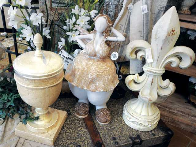 "In the French laundry section, the whimsical ""Bahama Mama"" poses. The French Laundry collection is among the newest trends in spring decorating."