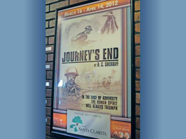 "The poster for ""Journey's End"" produced with a grant from the city of Santa Clarita hangs in the Rep lobby."