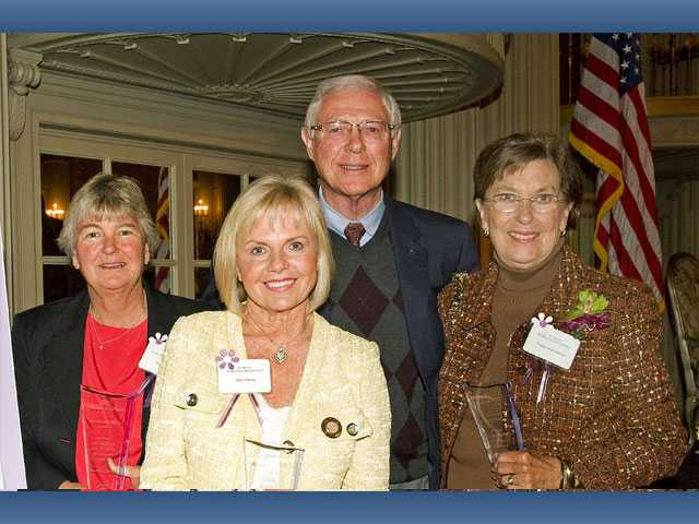 Cheri Fleming, owner of Valencia Acura, center, was named Woman of the Year by Los Angeles County Supervisor Michael D. Antonovich. Antonovich's other nominees included Margaret Neil, left, and Virginia Goss Cushman.