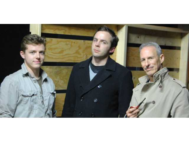 "Stephen Baily, Reid Gormly and Daniel Lench will appear in ""Journey's End,"" which opens at the Repertory East Playhouse in Newhall tonight."