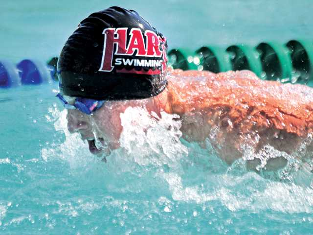 Hart High senior Mitch Johnson (pictured) figures to be one of the top swimmers in the Foothill League.