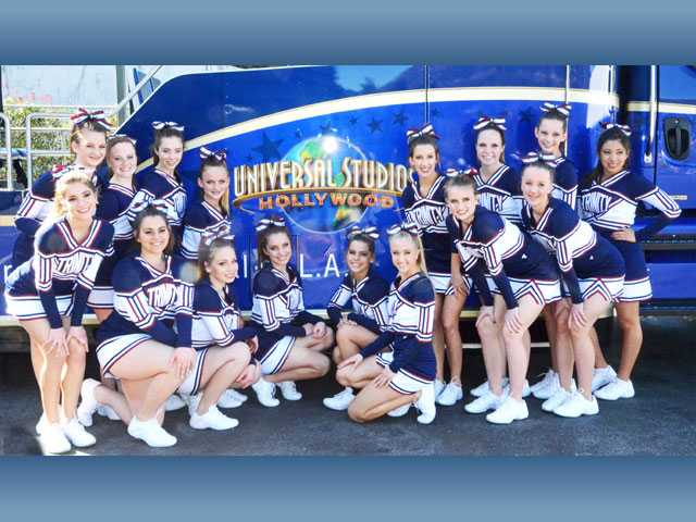 Trinity cheer goes to 1st competition